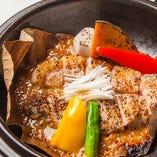 岩手 岩中豚の炭火朴葉焼きステーキ