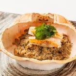 蟹味噌の甲羅焼き