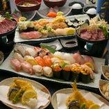 【2時間飲み放題付】寿司食べ放題「冬の味覚 会席コース」