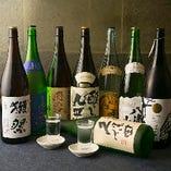 世界中の日本酒ファンから愛される獺祭をはじめ、久保田や秋鹿といったプレミアム銘柄を多数ご用意。旬の食材を使用した自慢の料理に合う日本酒を厳選しております。