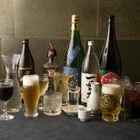 日本酒千羽鶴をはじめ、アサヒスーパードライ生ビール、焼酎、ワイン、ハイボール、カクテルなど、豪華飲み放題プランもございます。
