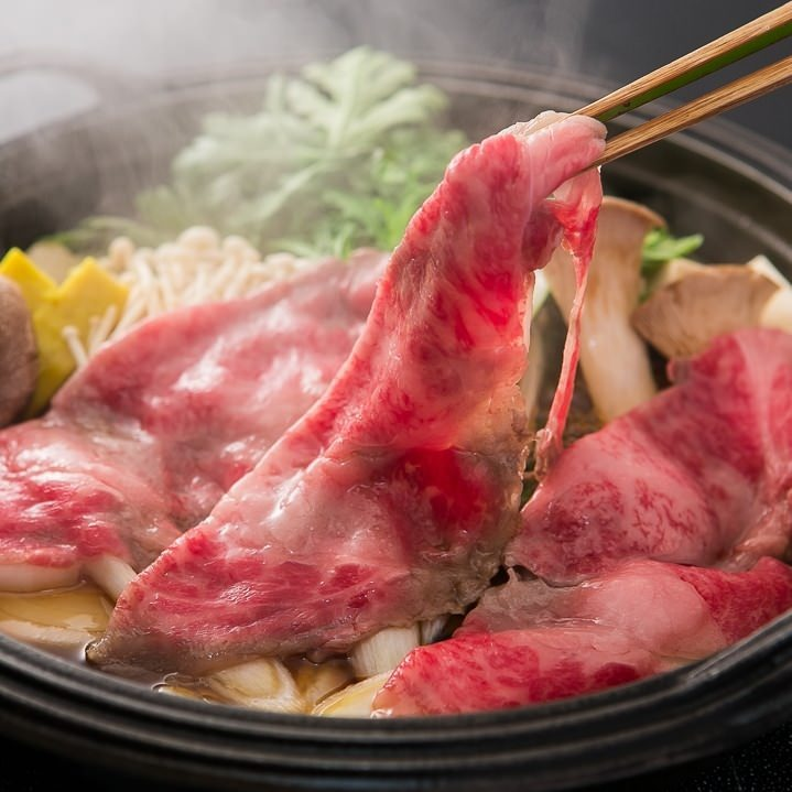本格関東風すき焼きをお楽しみ下さい