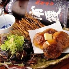 宮城産の新鮮野菜をろばた焼きで!