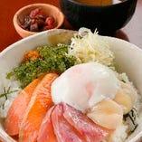 【取り分け不要!】贅沢海鮮丼定食セット