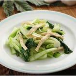 青菜と湯葉の炒め