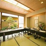 全席、プライベート性を高めた個室にてお食事をご用意いたします