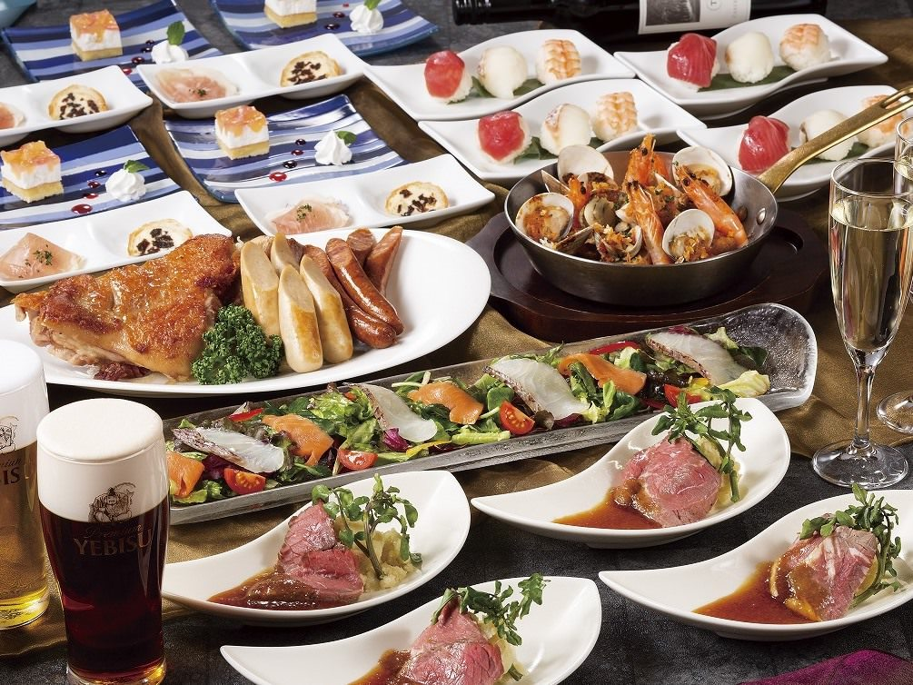<生ビール6種類♪スペシャルコース>『GUP飲み放題』+『特製ローストビーフ料理8品コース』⇒税込7,500円