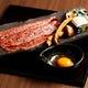 松茸とこだわり卵と共に焼きすきサーロインと〆の一口ご飯と共に