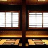 5~10名様対応可能な「金の間 堀りごたつ席」は完全個室です。