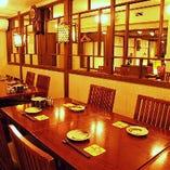 テーブル席半個室(14~18名様)