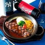肉料理は多彩なワインと共にお楽しみください