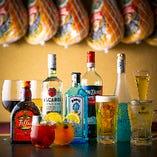 カクテルやブランデー、ハイボールなど多彩なお酒をご用意