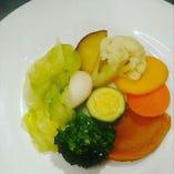 ランチで人気の温野菜
