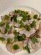 ある日のおすすめ。鮮魚炙り焼きのカルパッチョ。