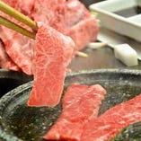 雄大な九州の自然で丹念に育てられた「薩摩黒牛」の特上カルビ