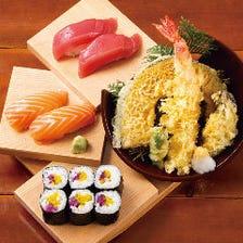 鮮魚の握り寿司とお酒を愉しむ