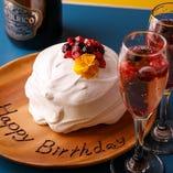 誕生日や記念日にはパンケーキプレートでお祝いを。