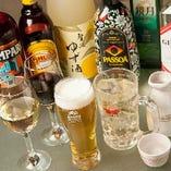 各種プランの飲み放題は100種類!ノンアルコールカクテルも充実