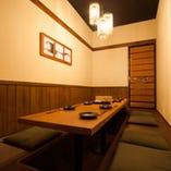 個室完備。 大切なお席に最適です。