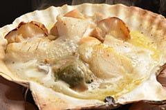 釜石産ホタテ貝焼き