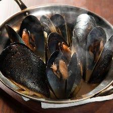 ムール貝のバタービール蒸し