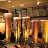 自社醸造だからできる季節に合わせた限定ビールをお楽しみください