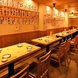 テーブル席(~4名様×5卓)