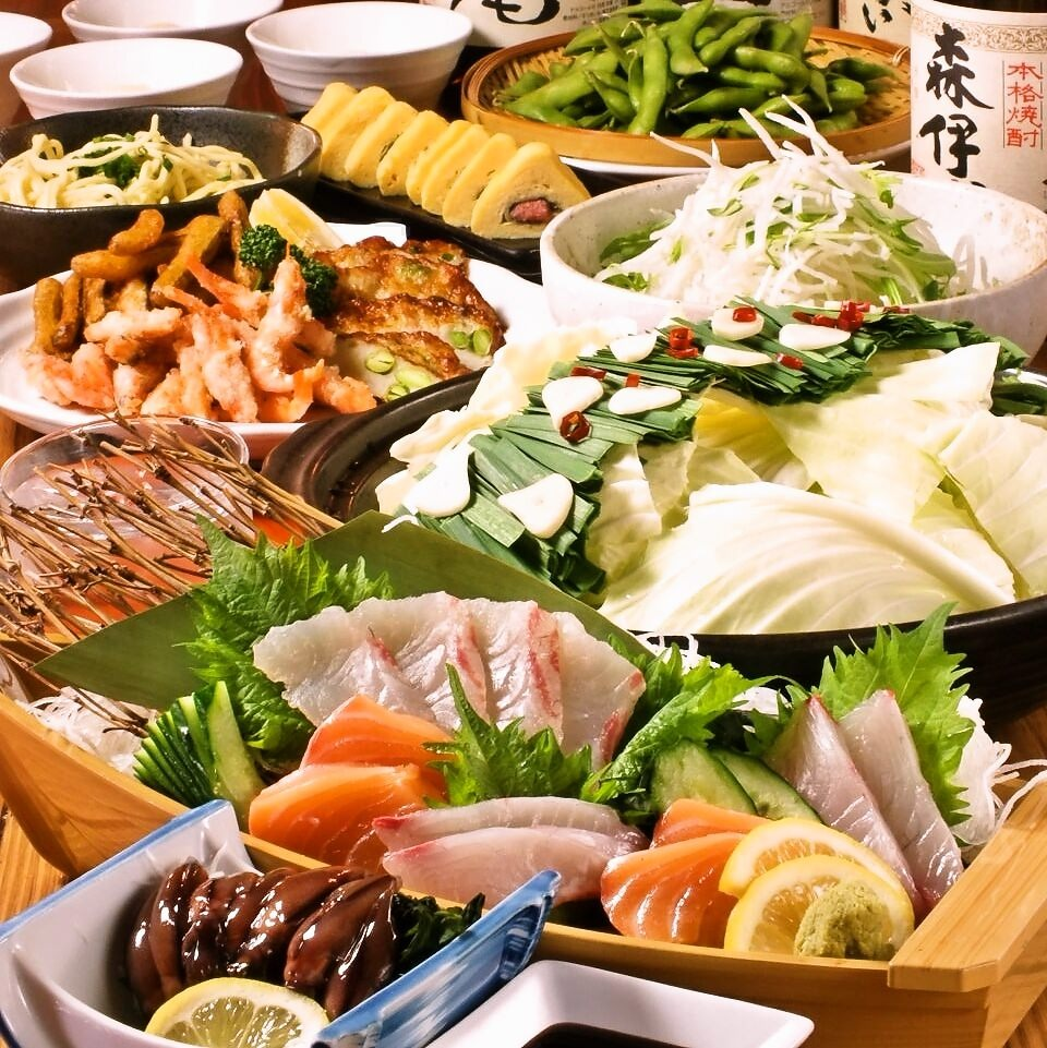 【季節限定】120分飲放付!もつ鍋、さつまあげ、博多明太玉子など名物が揃う『博多っ子コース』3,980円