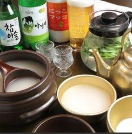韓国のお酒もご用意しております!
