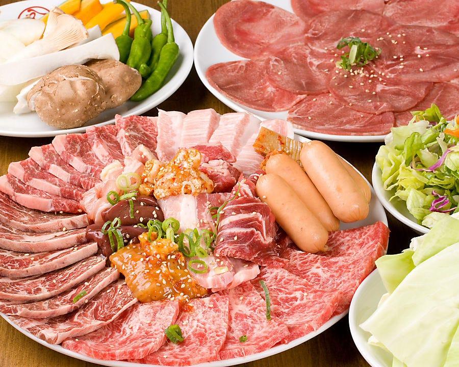 リピーター絶賛の肉質!! 食べ放題の常識を覆します!