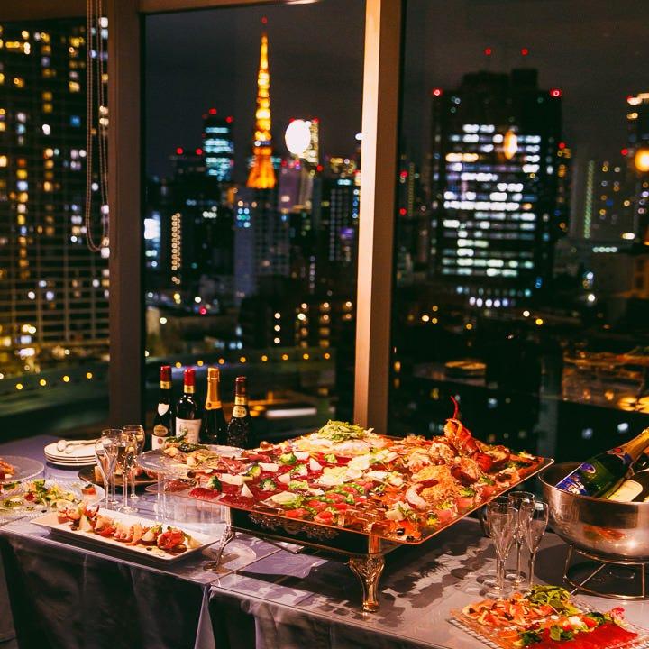 地上60m、東京の大夜景に包まれて
