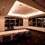 【パーティルーム】 東京湾の大パノラマを一望できる広々とした空間は立食80名様まで収容可能