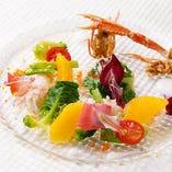 旬魚介と鮮やかな饗宴をお楽しみください