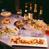 企業様の交流会やお身内の会食に最適な大皿・着席プランもご用意