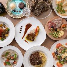 L'ANGOROコース デザート付 8品《特別な日や贅沢したい日のディナーに》【2時間飲み放題付】 5,000円