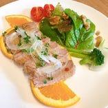 合鴨と柑橘のサラダ くるみとトリュフオイル