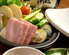 旬野菜とベーコンの蒸し野菜