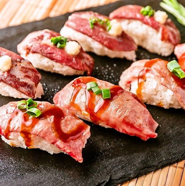 炙り肉寿司やしゃぶしゃぶが食べ放題