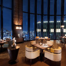 ホテル高層階からのパノラマビュー