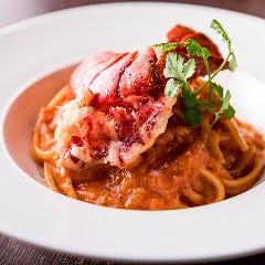オマール海老のトマトクリームスパゲティ