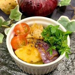 豚肉と長芋の味噌アヒージョ
