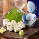 夏の味覚「鱧」など、魚介は旬のものを日替わりで提供。四季折々の美味をご賞味ください