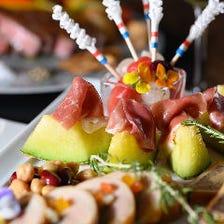 ☆主役に誕生石カラーのカクテル贈呈☆国産ステーキ、寿司など6皿と飲み放題『バースデープラン ゴールド』