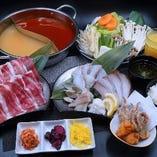 ブリしゃぶ食べ放題でお肉も食べ放題・・・贅沢の極みです。