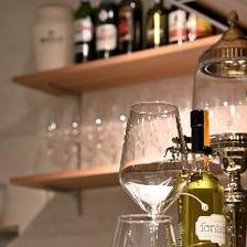 お酒と共に、フレンチを楽しむ