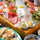 豪華な魚活盛りや土瓶蒸しなどを楽しむ!