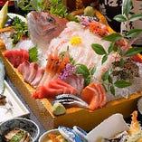 接待やご宴会に最適!本物の味わいと新鮮魚介を堪能【磯魚会席】全9品/7,000円(税抜)