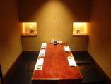 ゆったり寛げる個室は大小様々な19個室完備!!
