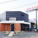 中川区環状線沿いの焼肉店。専用駐車場10台完備◎