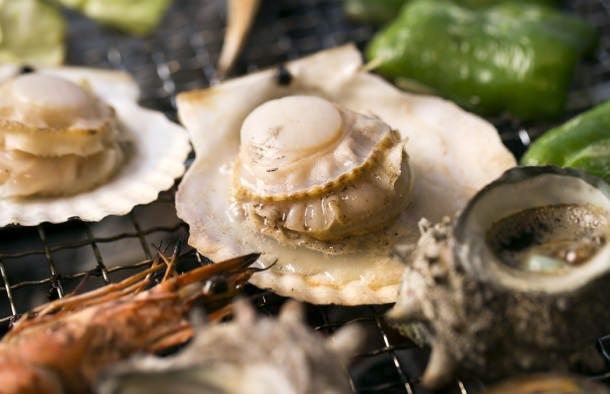 ◆皆でわいわい海鮮バーベキュー!